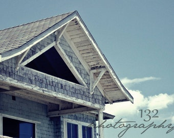 Beach Cottage Photo 5x7 Signed Print Maine Ocean Wall Art