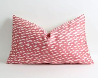 Ikat pillow, handwoven ikat throw pillow cover, 16x26 decorative ikat pillow, accent pillows