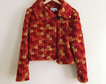 1970s Harvest Floral Swing Jacket