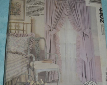 McCalls 4402 Window Essentials Treatments Curtains Drapes Valances Ruffle Sewing Pattern - UNCUT