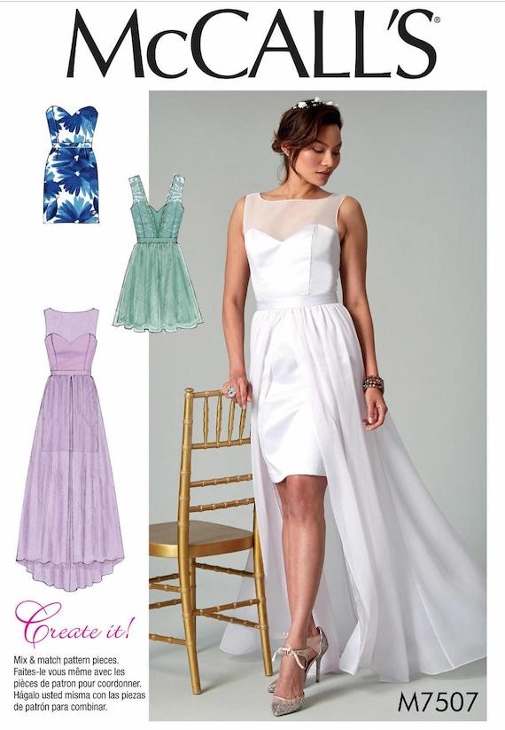 Wedding Dress Pattern, Evening Gown Pattern, Strapless Dress Pattern ...