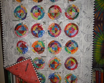 Color on Black and White Quilt