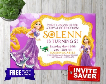 Rapunzel invitation, Rapunzel  birthday, Rapunzel  Party, Rapunzel birthday Invitation, Tangled Invitation, tangled, rapunzel