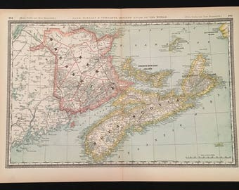 New brunswick map Etsy
