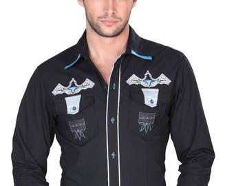 Denim shirt M/long General 65 Polyester 35 cotton ID 121882 CW6N Black