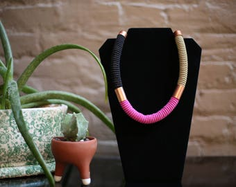 Necklaces/collars made necklace/jewelry/handmade women/ethnic necklace / rope necklace