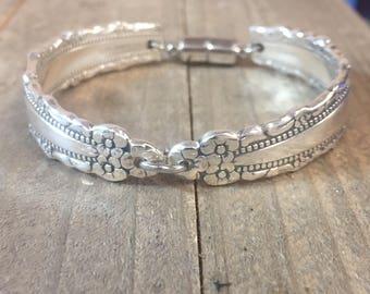 Spoon Bracelet, Royal Lace silverplate,  1970, Royal Lace Bracelet| silverware bracelet, silverware jewelry, silverware bracelet, vintage