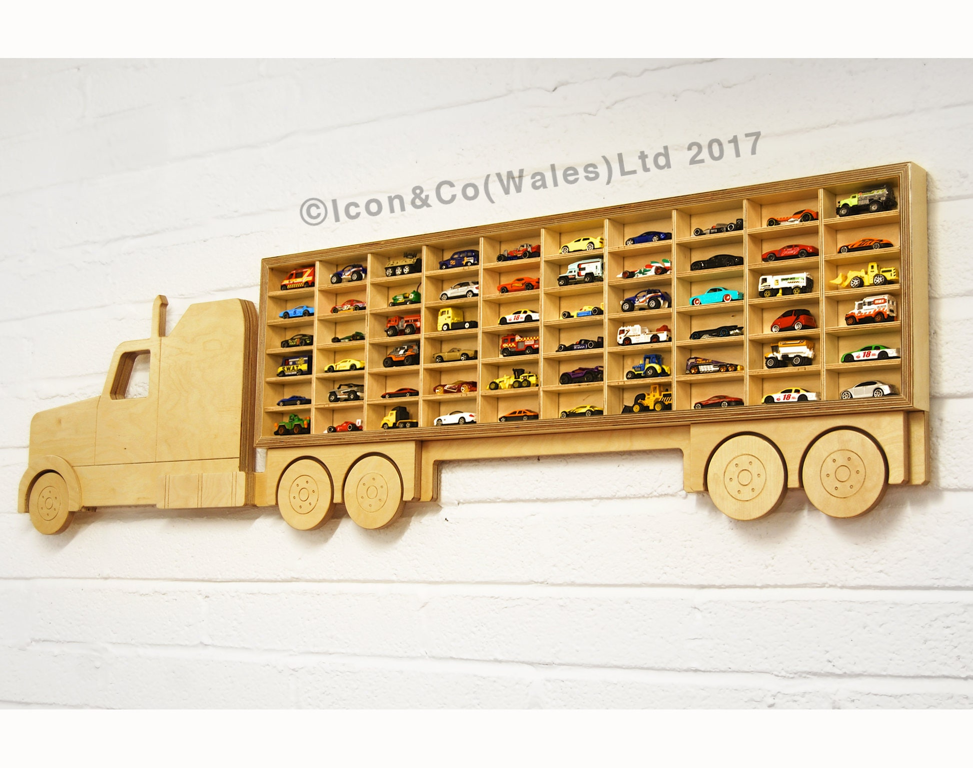 Toy Car Holder Truck : Spielzeug auto lkw regal modell