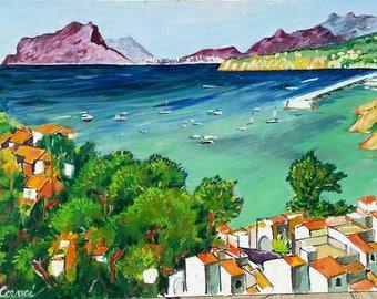 Moraira / original oil on canvas