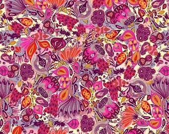 Free Spirit Fabrics - Garden Dreams Shannon Newlin - Secret Garden - Color: Pink - Item # PWSN009.PINKX