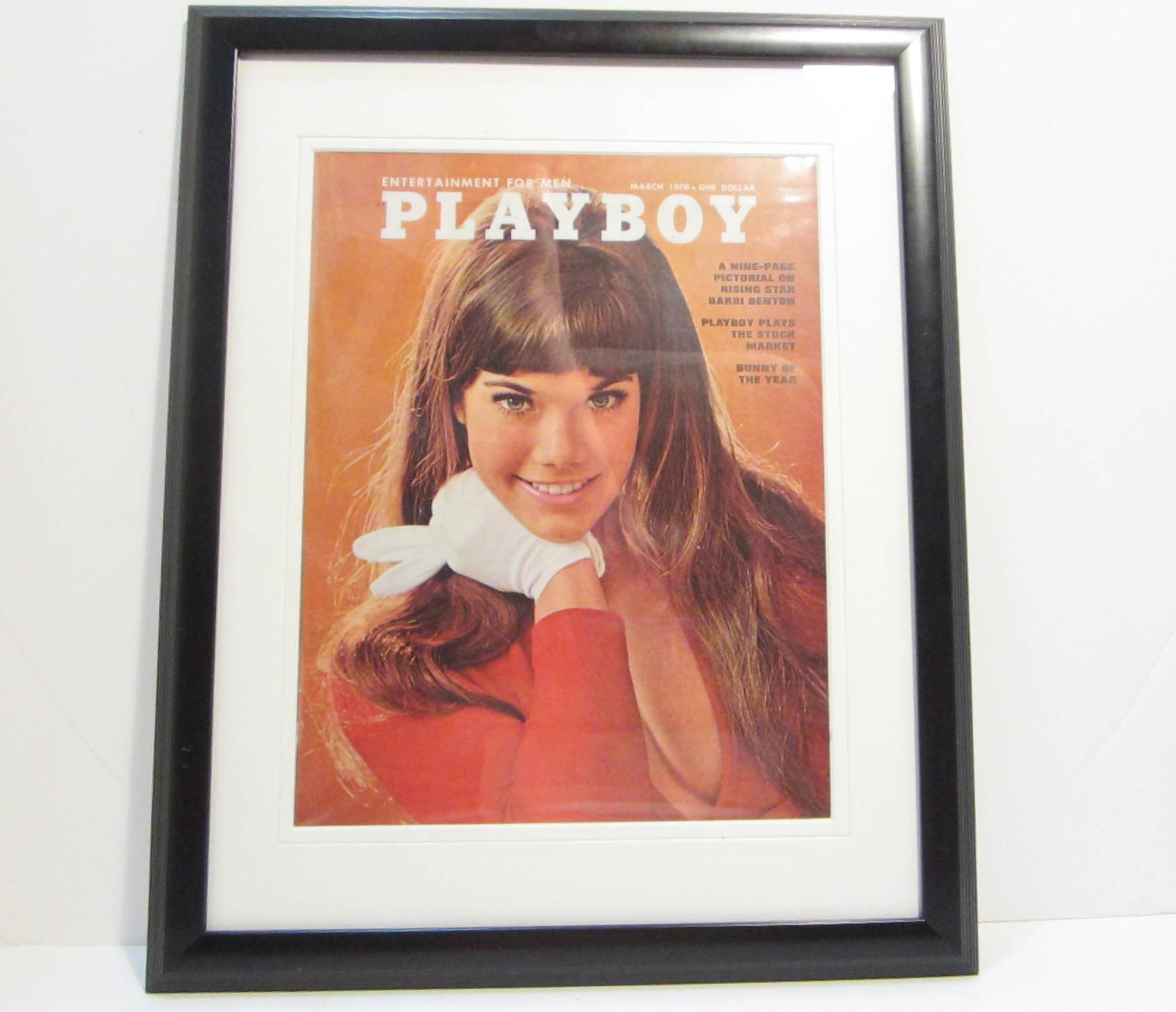 Playboy vintage con la portada de la revista enmarcado: Marzo