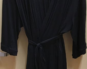 Black Robe 3/4 length Valentine's Day Special  ***FREE EMBROIDERY PERSONALIZATION of a name or business name