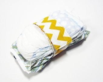 Chevron Diaper Strap - Mustard Yellow Eggshell Chevron