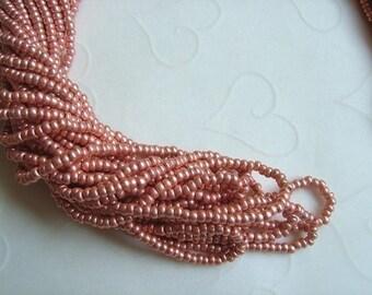 One hank of Czech Metallic Copper seed beads - 0206 size 11