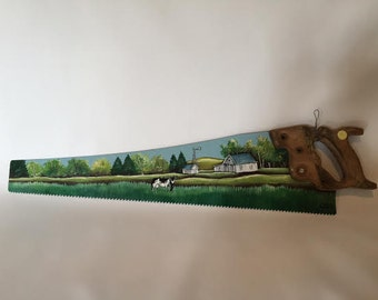 Hand painted hand saw