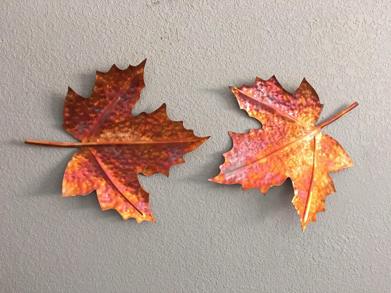 Maple Leaf Copper Leaf Metal Maple Leaves Home Decor