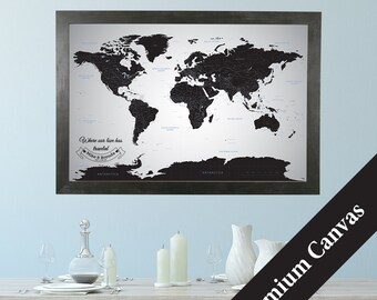 Personalized travel pin maps to track lifes by pushpintravelmaps canvas personalized black ice world gumiabroncs Choice Image