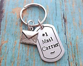 Mailman - Postman - Mail Carrier - Keychain - Postal Worker - Postal Carrier - Post Office - Mail Carrier Gift - Birthday - Christmas