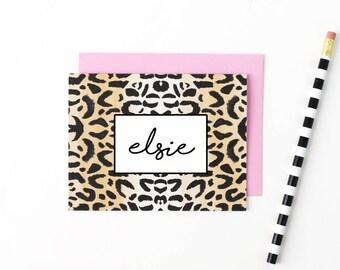 Personalisiertes Briefpapier Set eigene Notiz Karten personifiziert danken Ihnen Notizen Kalligraphie Briefpapier Mädchen stationär personalisierte stationär