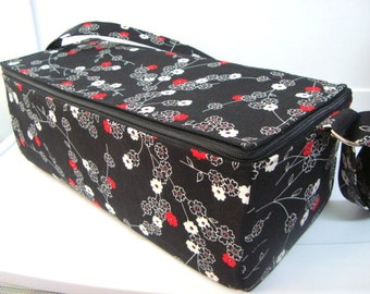 Super Large 6 inch Depth Double Wide Fabric Coupon Organizer - With ZIPPER CLOSER  Zen Blossom