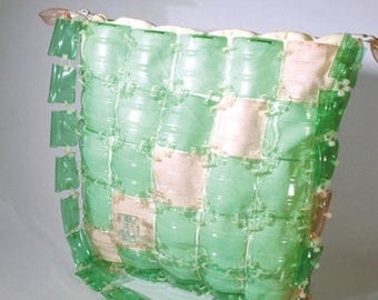 Bag WATER-LILY, handmade from recycled plastic