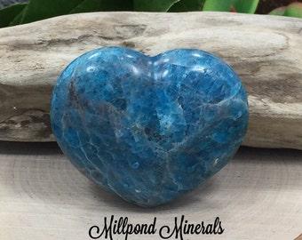 Apatite Heart, Apatite Decorative Heart, Polished Apatite Heart, Heart Stone, Heart Crystal, Crystals, LARGER SIZE, CM3503