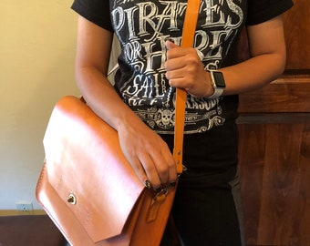 Handcrafted Leather Messenger Bag