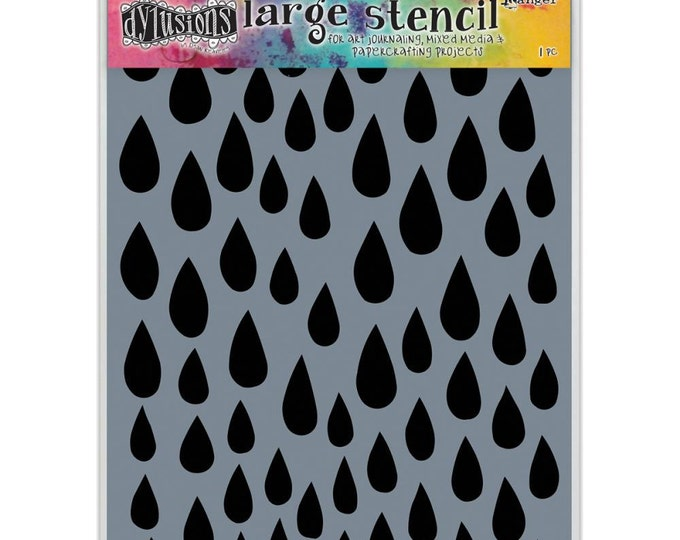 Ranger Dylusions RAINDROPS Large 9x12 Stencil by Dyan Reaveley