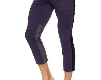 Mens 4/5 Zipper Pocket Capri Yoga Pants