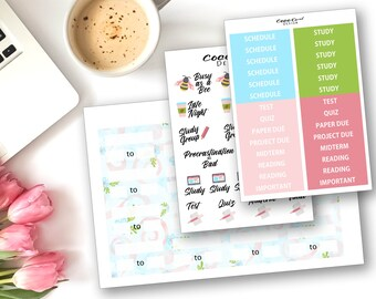 Spring Student Planner Stickers for the Erin Condren Life Planner Planner Sticker Kit Sticker Set Functional Headers