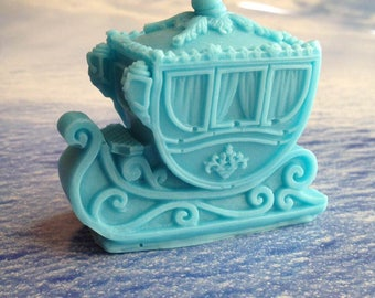 Sleigh Soap, Winter Sleigh, Carriage Soap, 3D Soap, Guest Soap, Bath Soap, Gift Soap, Novelty Soap, You pick scent & color