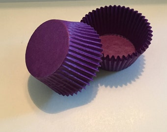 Deep Purple Glassine Cupcake Liners