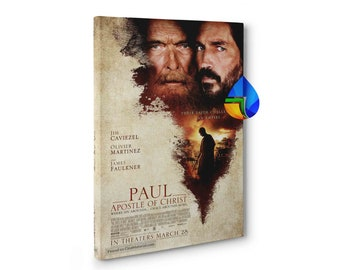 """Paul, Apostle of Christ Movie Poster, Canvas incl frame, HD full color print, 18x24"""", 24x36"""", 27x40"""", 32x48"""", Fast shipping from US Seller"""