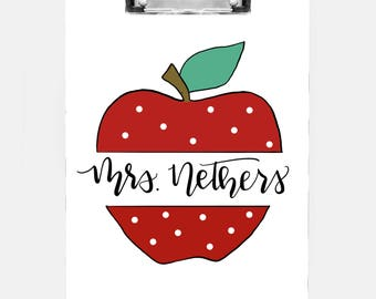 Customized Teacher Clipboard
