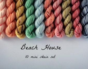 10 Sock Mini Skein Set- Beach House