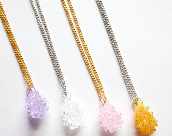 Glass Cluster Ball Necklace