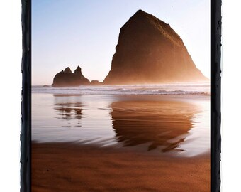 Sunrise at Haystack Rock Near Cannon Beach Oregon Ocean Scene Fine Art Greeting Card