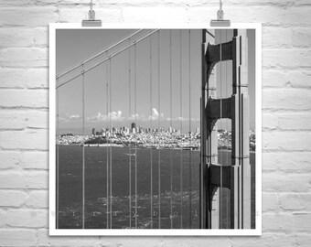 San Francisco Picture, Golden Gate Bridge Art, San Francisco Photograph, Golden Gate Bridge Picture, Black and White Art, San Francisco Gift