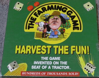 Vintage The Farming Game Board Game 1996