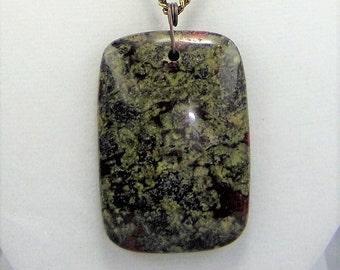 N118, Jasper Pendant Necklace