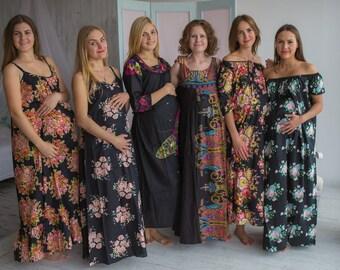 Stork Dreams Black - Maternity Nightgown, Maternity Nightie, Maternity Bed Gown, Pregnancy Nightdress, Pregnancy Pjs, Baby Shower Gift