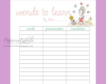 LANGUAGES Student Planner A5 Planner Pages Weekly Pages PDF Daily Planner Pages Students Planner Languages Learning Daily Planner Insert PDF