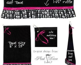 Golf Punk - Ruffled Golf Towel (1 LEFT)