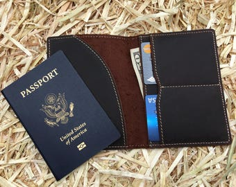 Leather Passport Wallet, Leather Passport case, leather passport protector, passport keeper