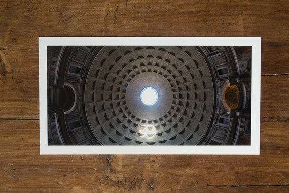 43 m - The Roman Pantheon Dome - fine art print