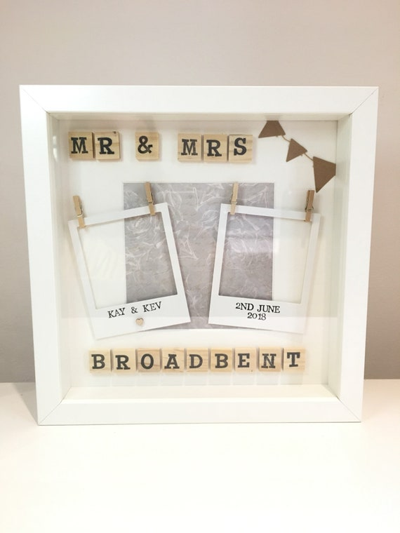Mr Mrs Frame Personalised Wedding Gift Wedding Photo