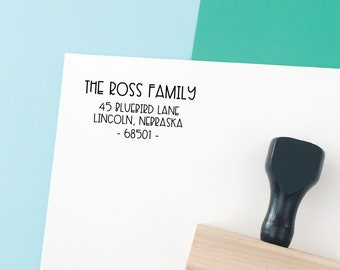 Return Address Stamp, Self-Inking Address Stamp, Housewarming Gift, Save the Date Stamp, Personalized Address Stamp - Custom Address No 171