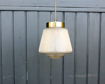 Vintage French Art Deco style frosted glass ceiling or pendant light