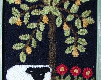 Sheep Under Pear Tree