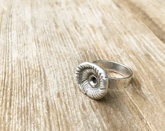 Sterling Handcrafted Spiral Shell Ring